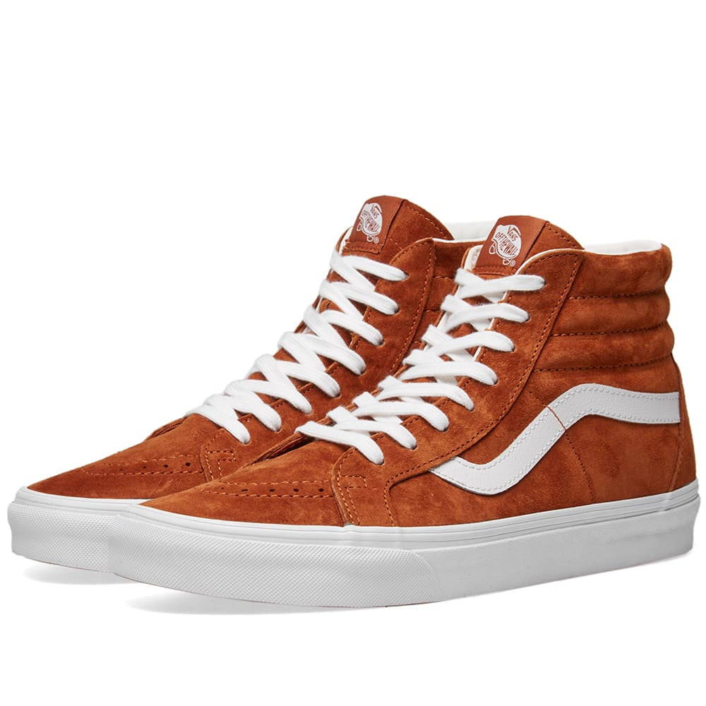 e881a90937 Vans SK8-Hi Reissue Pig Suede Leather Brown   True White