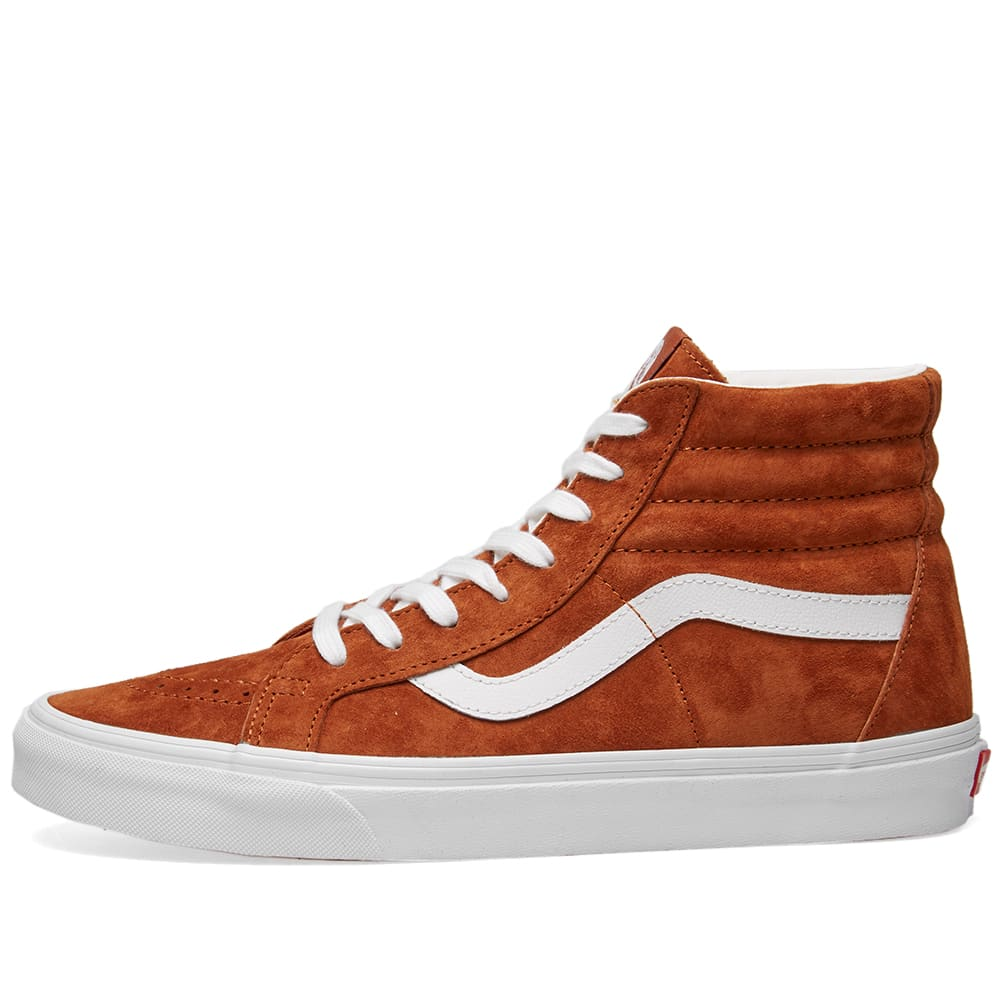 32be301d387e4 Vans SK8-Hi Reissue Pig Suede Leather Brown & True White | END.
