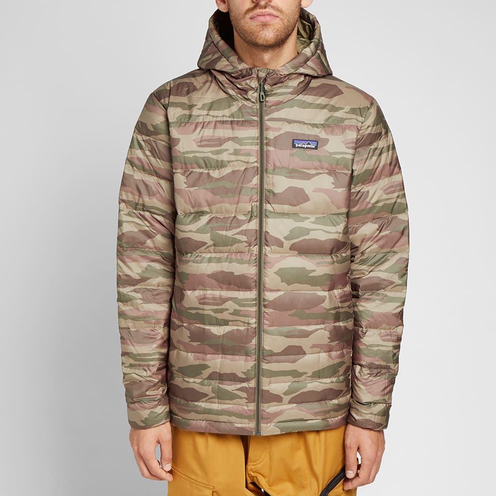 Patagonia Hi-Loft Down Sweater Hoody Bear Witness Camo