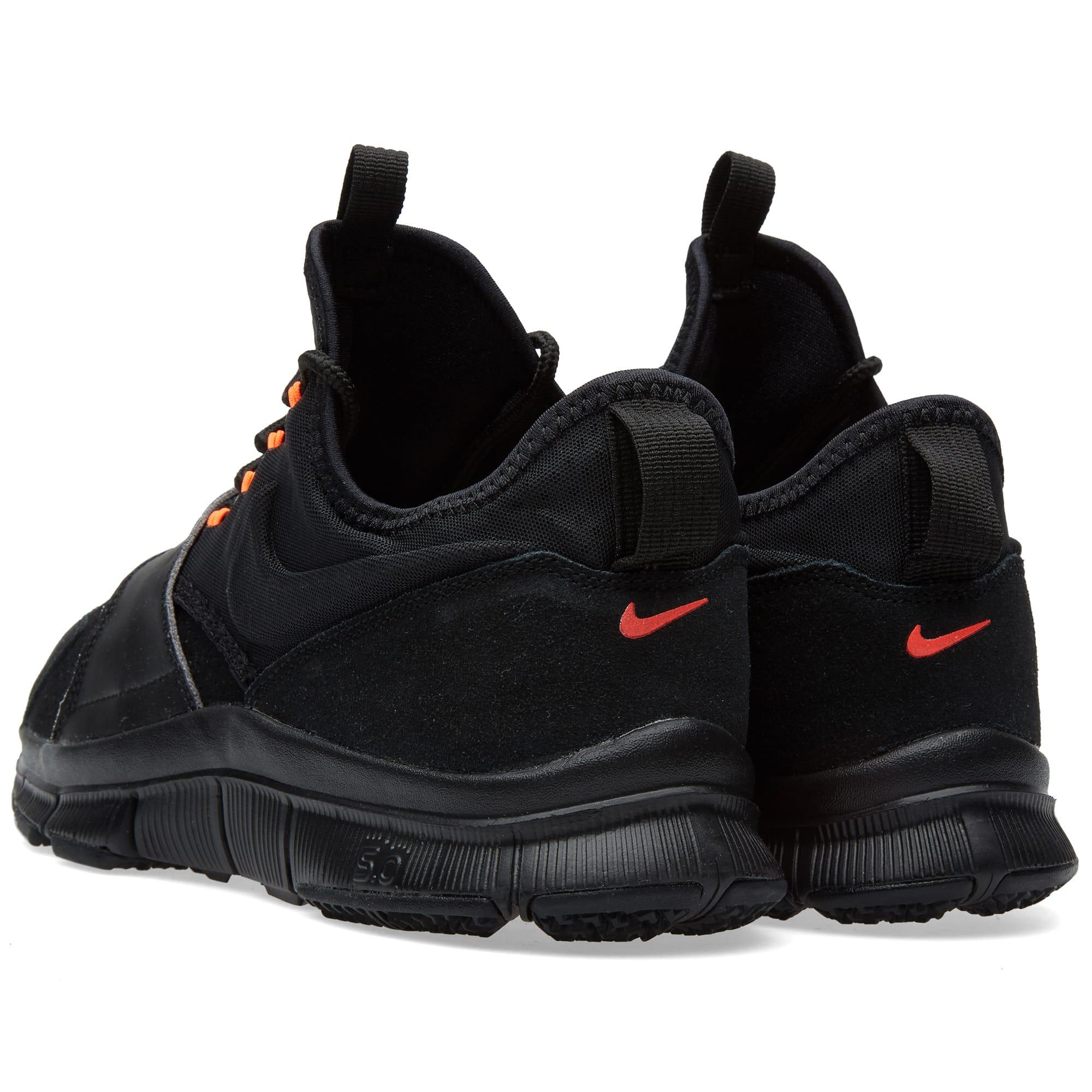 new product e9803 8a017 Nike Free Ace Leather Black   Hyper Orange   END.