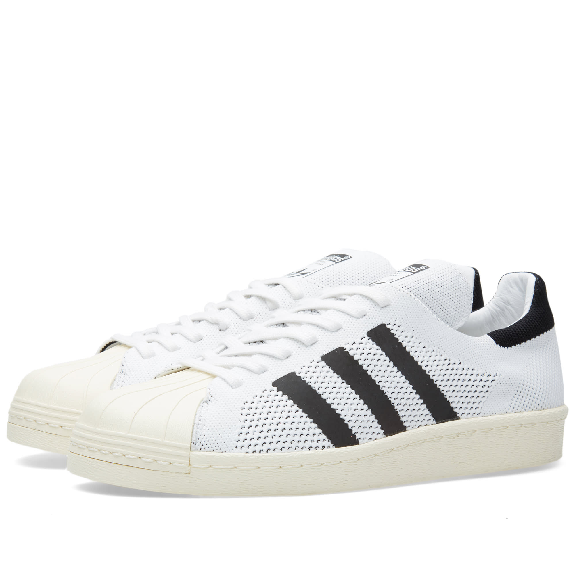 official photos 91ec2 f7cee Adidas Superstar 80s Primeknit White   Core Black   END.