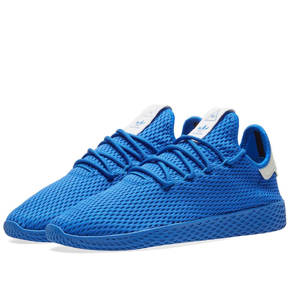 88fa7b1f5 Adidas x Pharrell Williams Tennis HU Blue   White