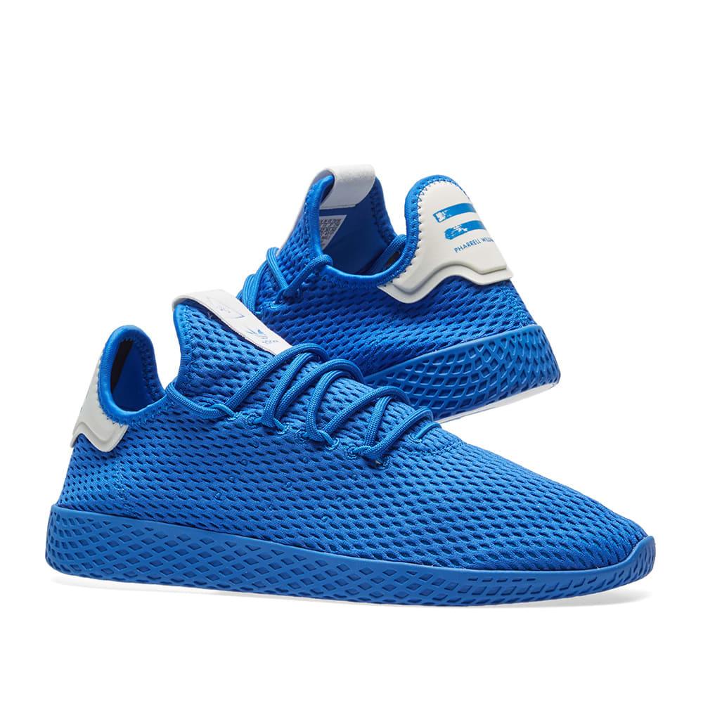 size 40 84ad2 47c2c Adidas x Pharrell Williams Tennis HU. Blue   White