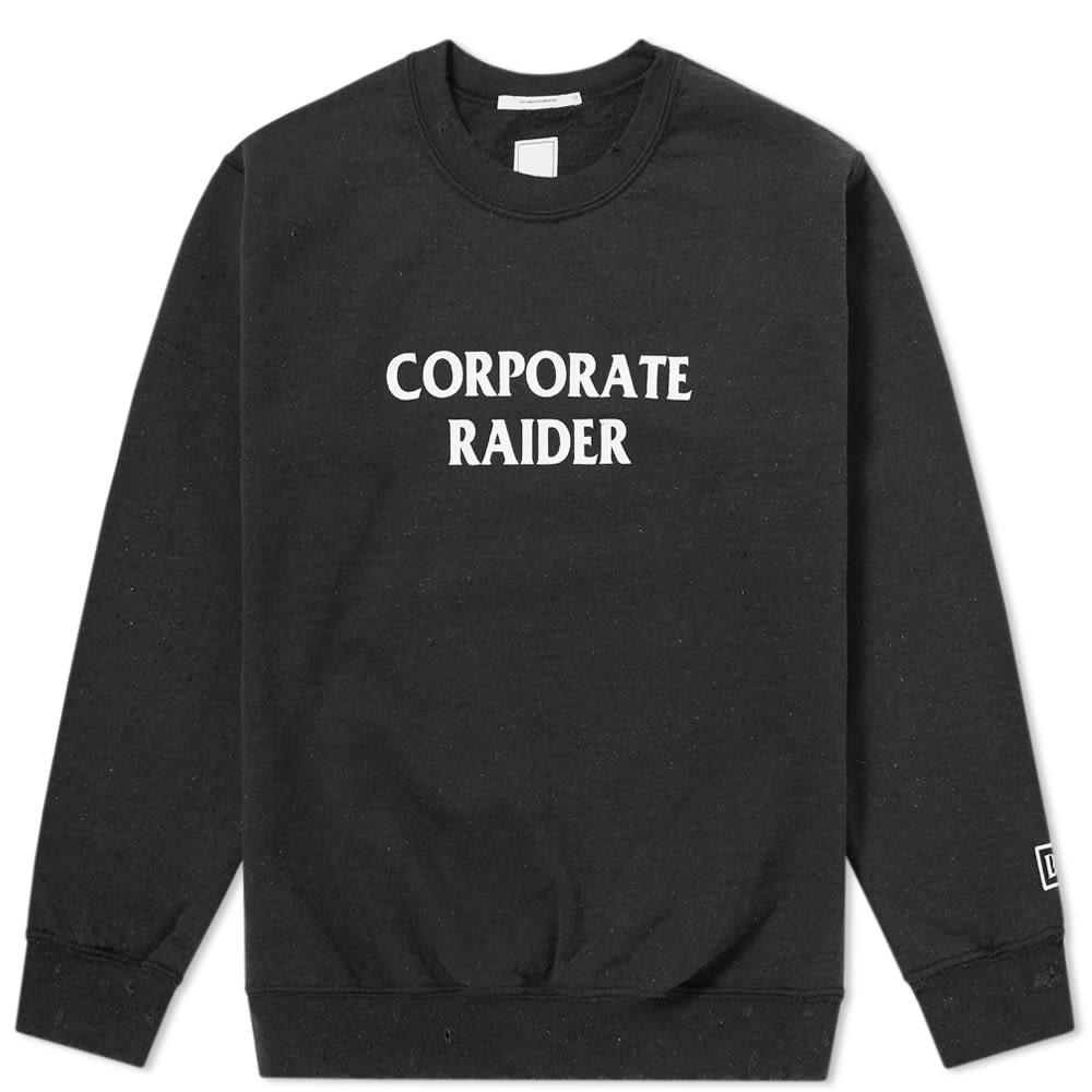 LIBERAIDERS Liberaiders Corporate Raider Crew Sweat in Black
