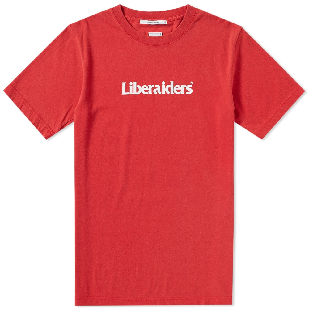 LIBERAIDERS Liberaiders Logo Tee in Red