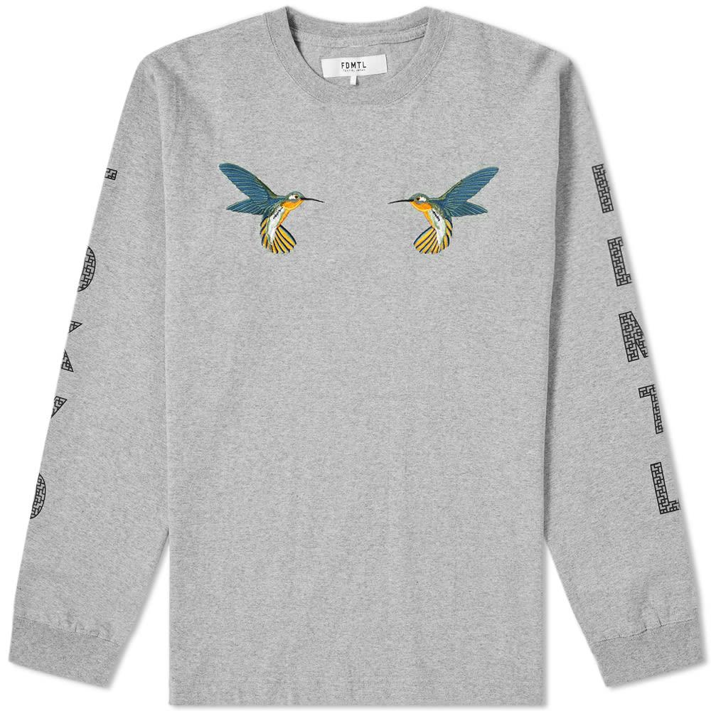 FDMTL Fdmtl Long Sleeve Hummingbird Tee in Grey