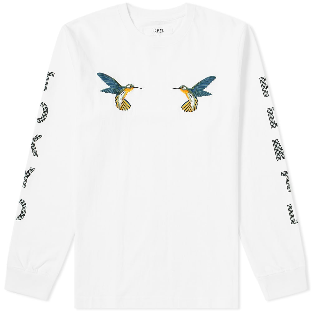 FDMTL Fdmtl Long Sleeve Hummingbird Tee in White