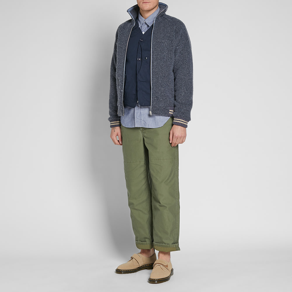 3c1ff2a03c4f Nigel Cabourn x Peak Performance Wool Fleece Zip Jacket Powder Blue ...