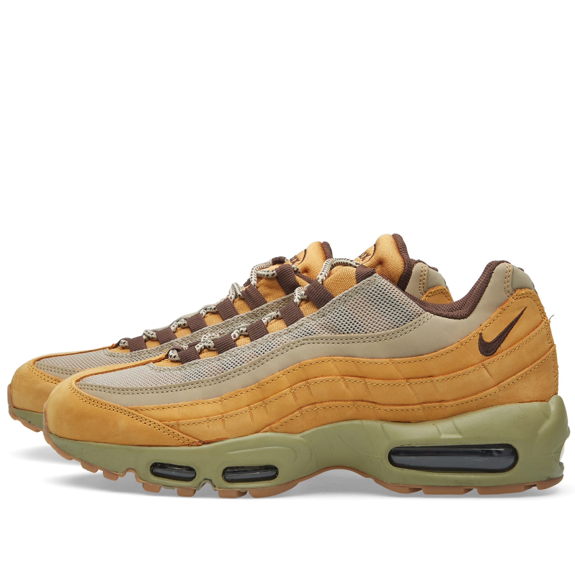 abd27c22f5191 Nike Air Max 95 Premium 'Wheat' Bronze, Baroque Brown & Bamboo | END.