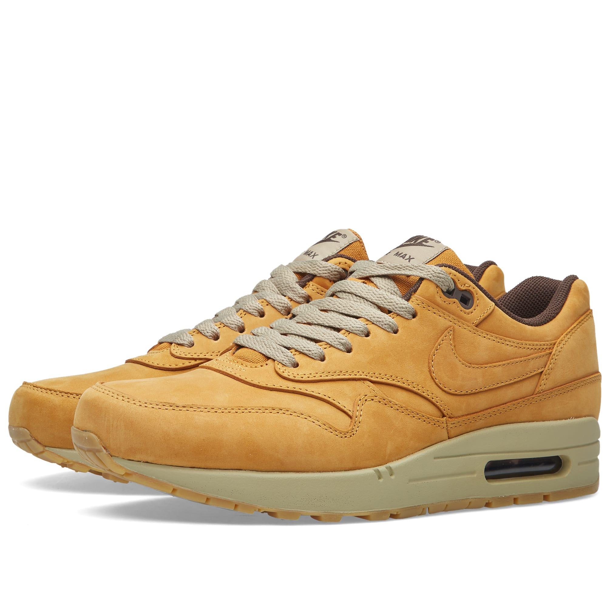 sports shoes 859e2 42738 Nike Air Max 1 Leather Premium  Wheat . Bronze   Baroque Brown