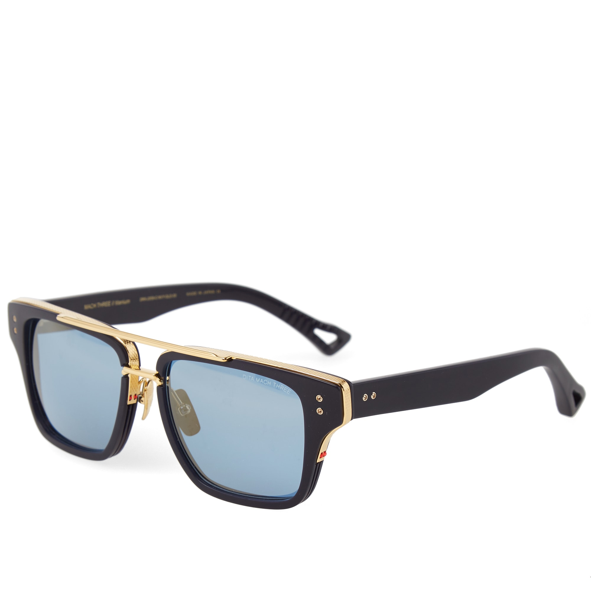 dita mach three sunglasses matte navy blue