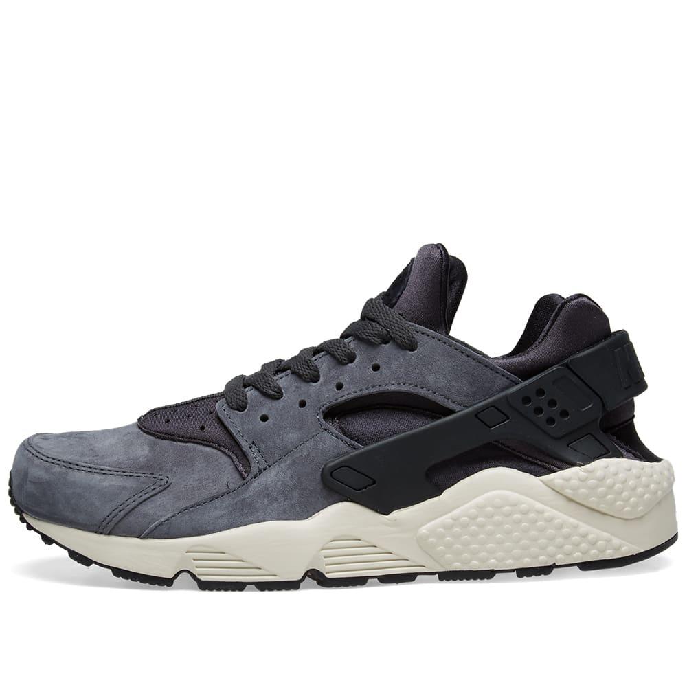 sports shoes 41173 c0dab Nike Air Huarache Run Premium Anthracite, Black   Light Bone   END.