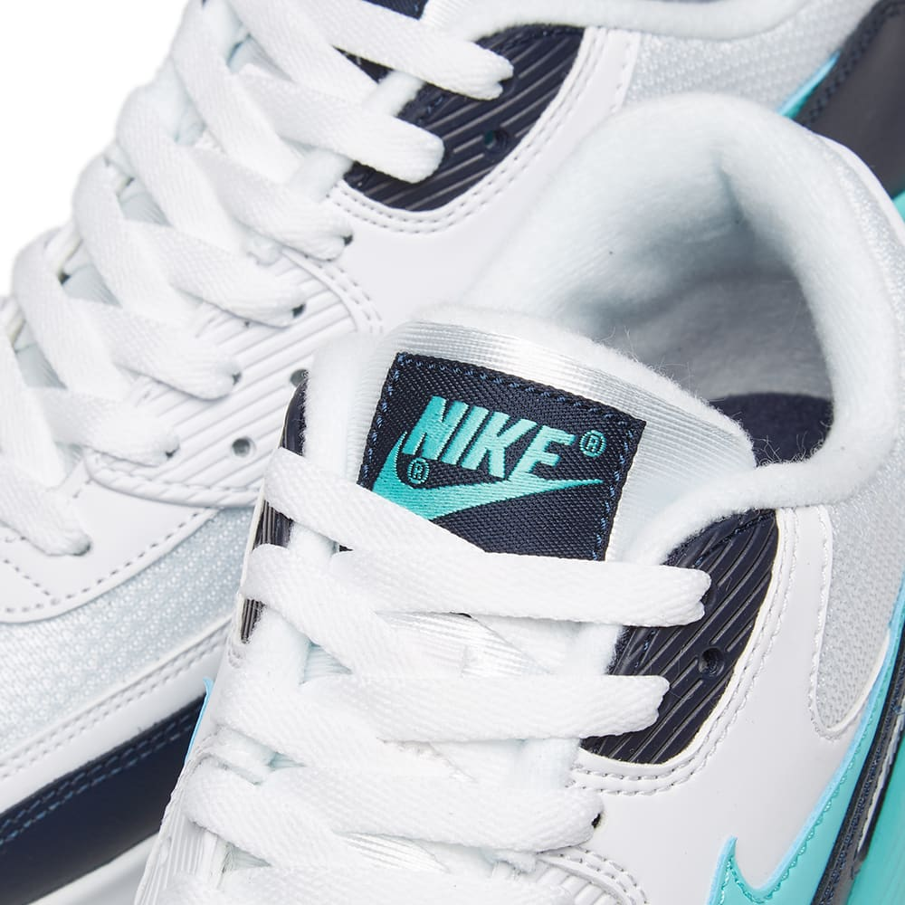 promo code c119f dcce2 Nike Air Max 90 Essential White, Aurora Green   Obsidian   END.