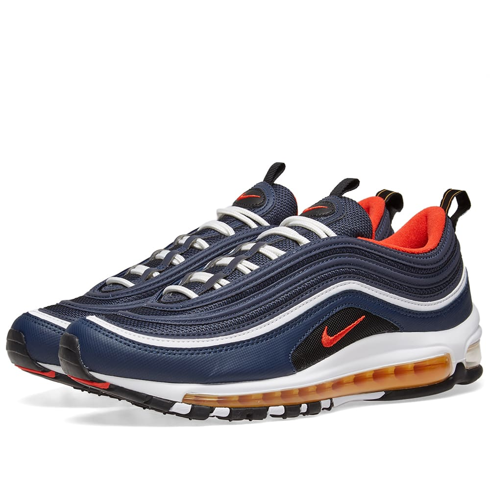 nike air max 97 black orange red