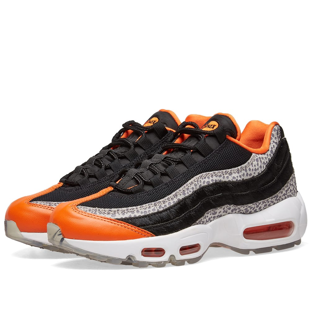 big sale c4f6d 37f53 Nike Air Max 95 WE - Greatest Hits Pack Black, Granite   Orange   END.