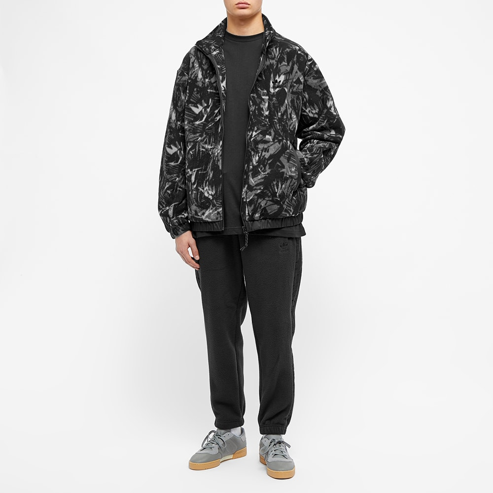 Adidas Polar Fleece AOP Track Top Black