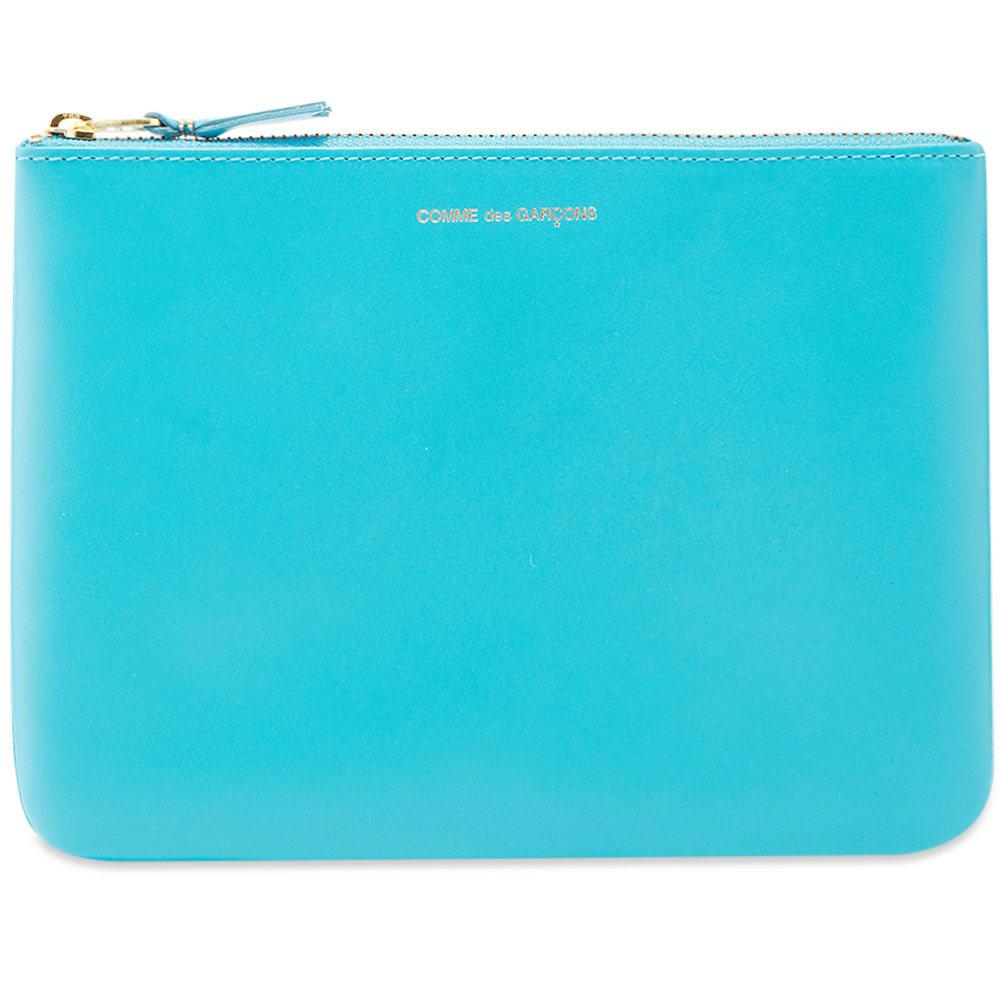 Comme Des GarÇOns Comme Des Garcons Sa5100 Classic Wallet In Blue