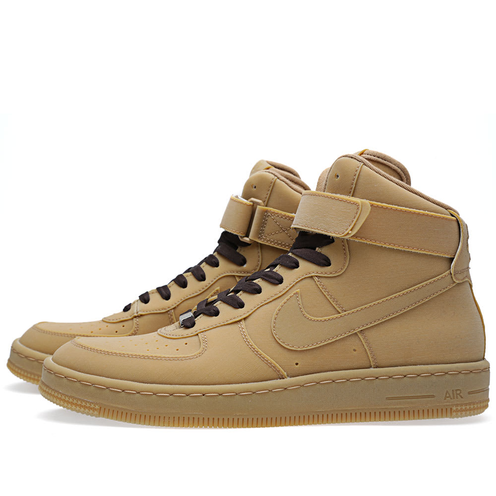 brand new f692d c2341 Nike Air Force 1 Downtown Hi Gum LW QS Gum Light Brown   END.