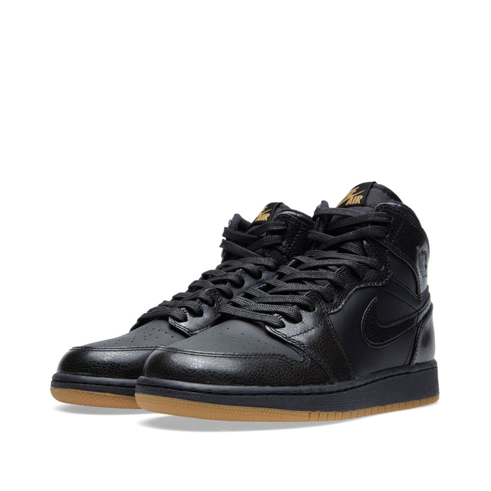 the best attitude e5549 ece91 Nike Air Jordan 1 Retro High OG BG 'Black/Gum' Black & Gum Light Brown |  END.