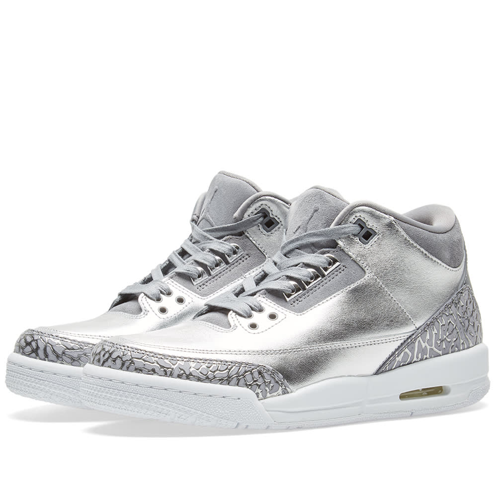 29311cbb04c6 Nike Air Jordan 3 Retro Premium Heiress GS Chrome