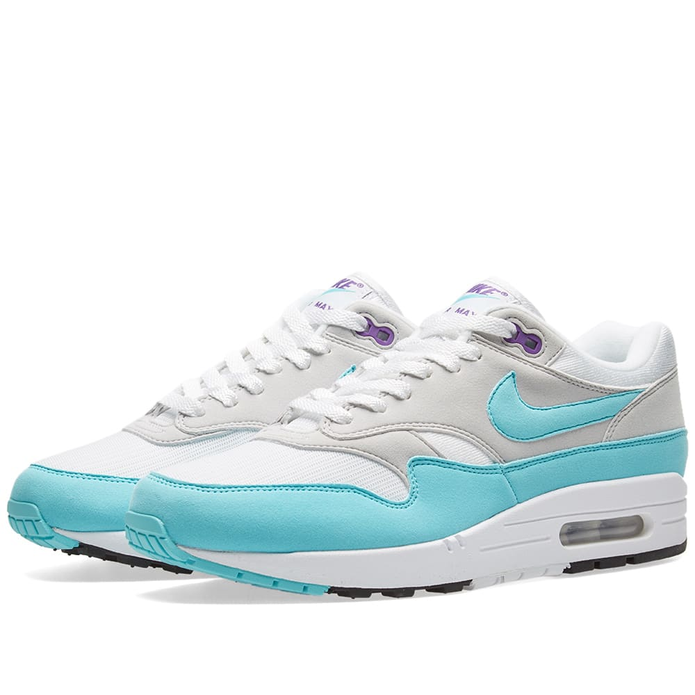 uk availability 3f233 f0405 Nike Air Max 1 Anniversary White, Aqua   Grey   END.