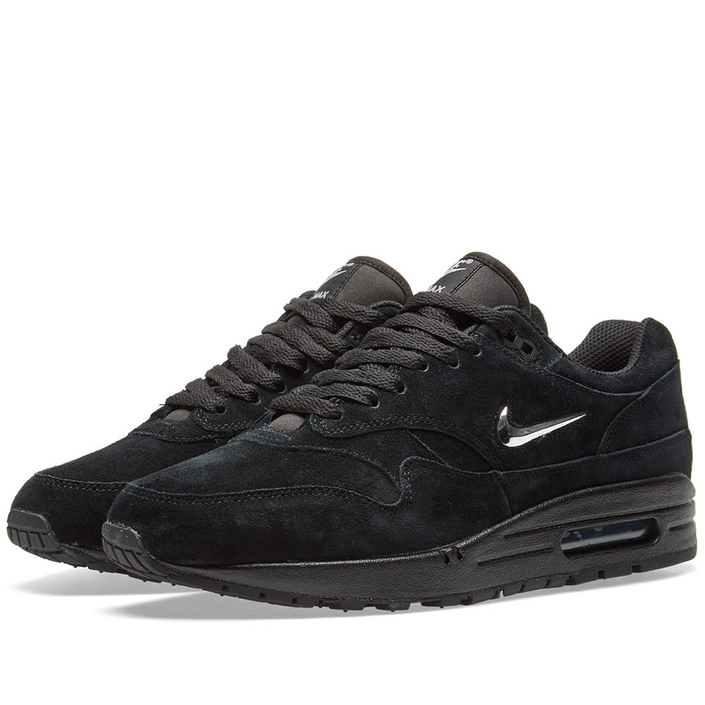 finest selection b3e48 b40a2 Nike Air Max 1 Premium SC Black   Chrome   END.