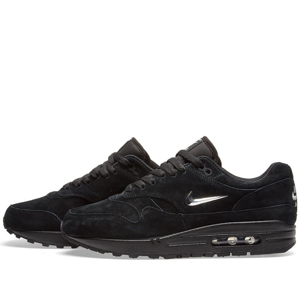 reputable site 10909 b6b6f Nike Air Max 1 Premium SC Black & Chrome | END.