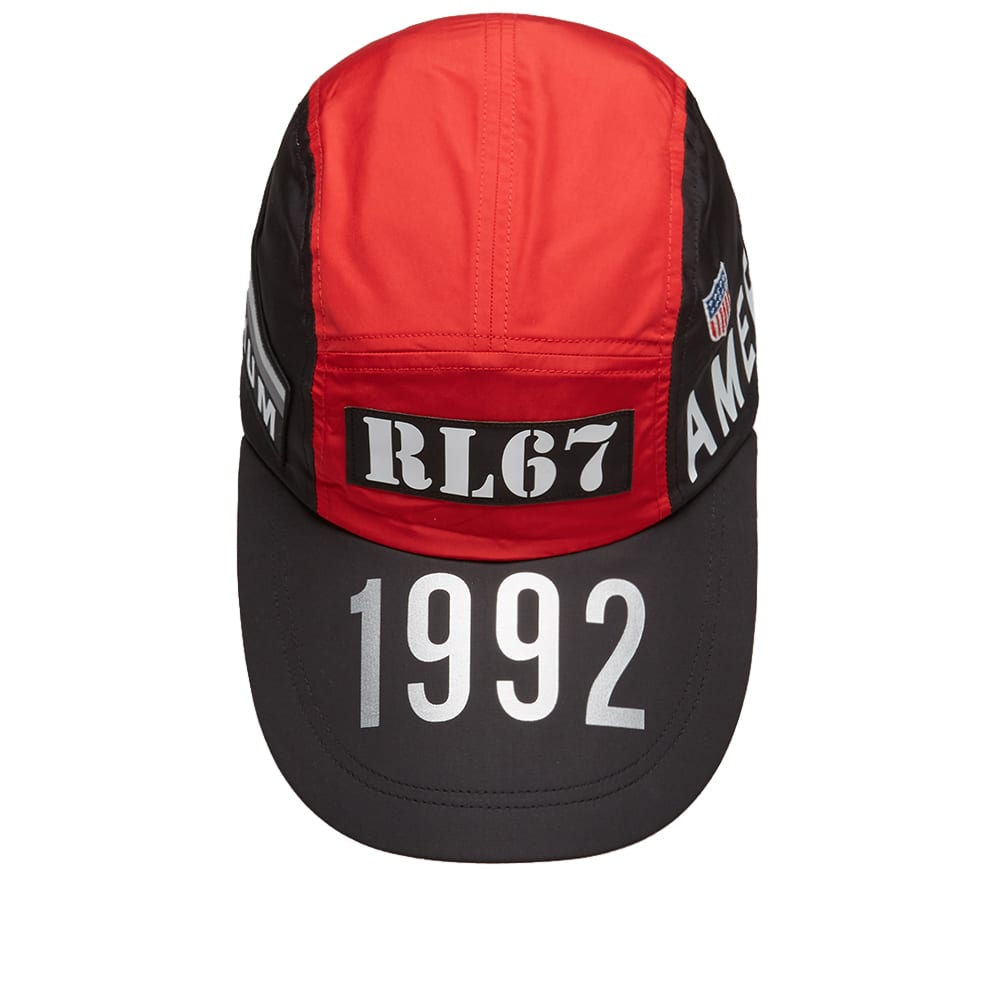 c62898e362df2 Polo Ralph Lauren 5 Panel Cap Injection Red   Silver