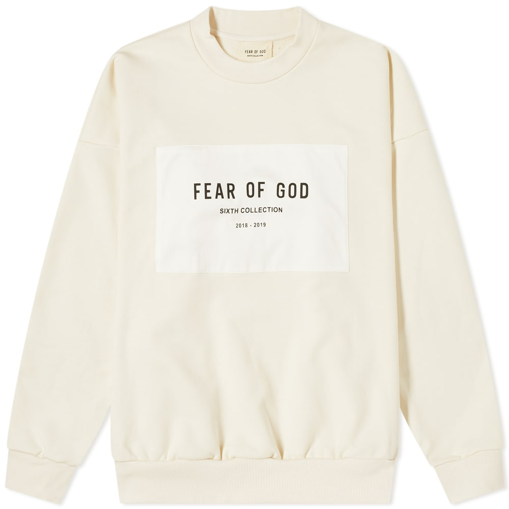 Fear Of God Patch Logo Crew Sweat by Fear Of God