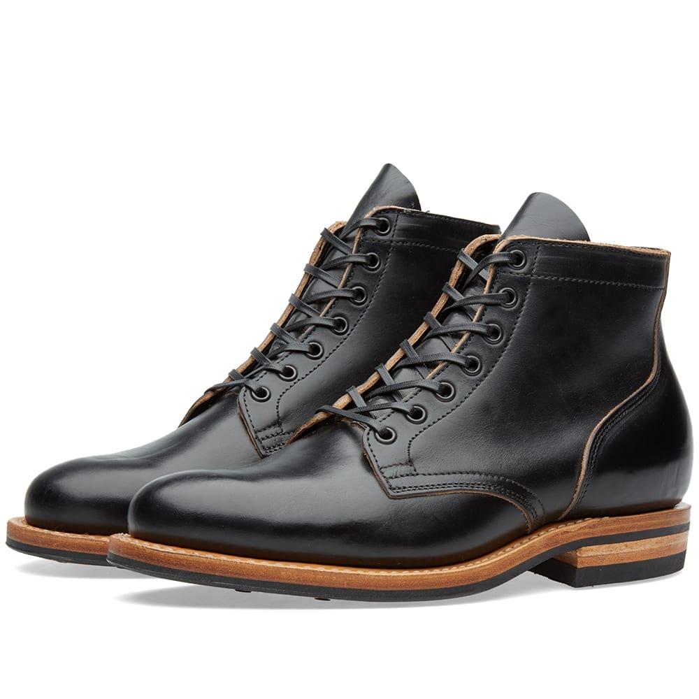 VIBERG Viberg Plain Toe Service Boot in Black