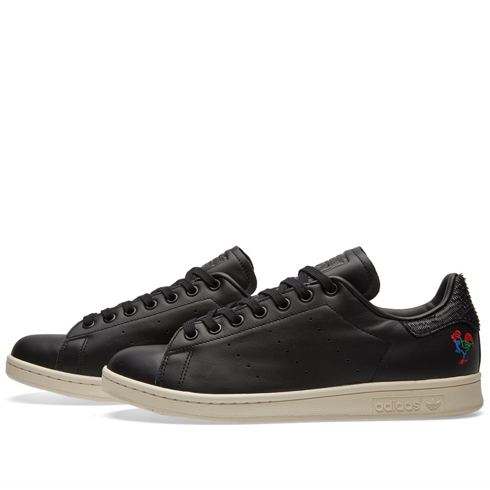 Material well Adidas Stan Smith Black Green Chalk