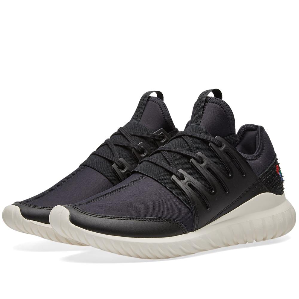 adidas tubular radial black white