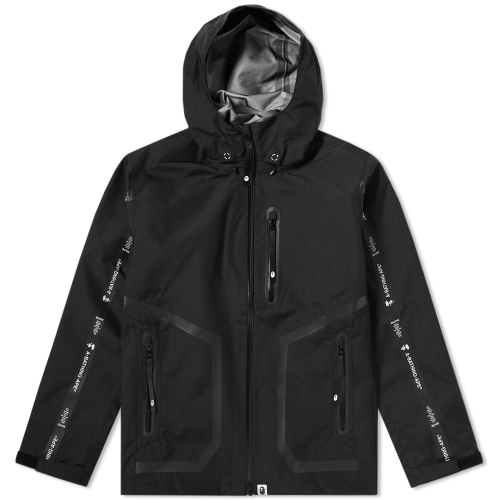 A BATHING APE 3 LAYER HOODED JACKET