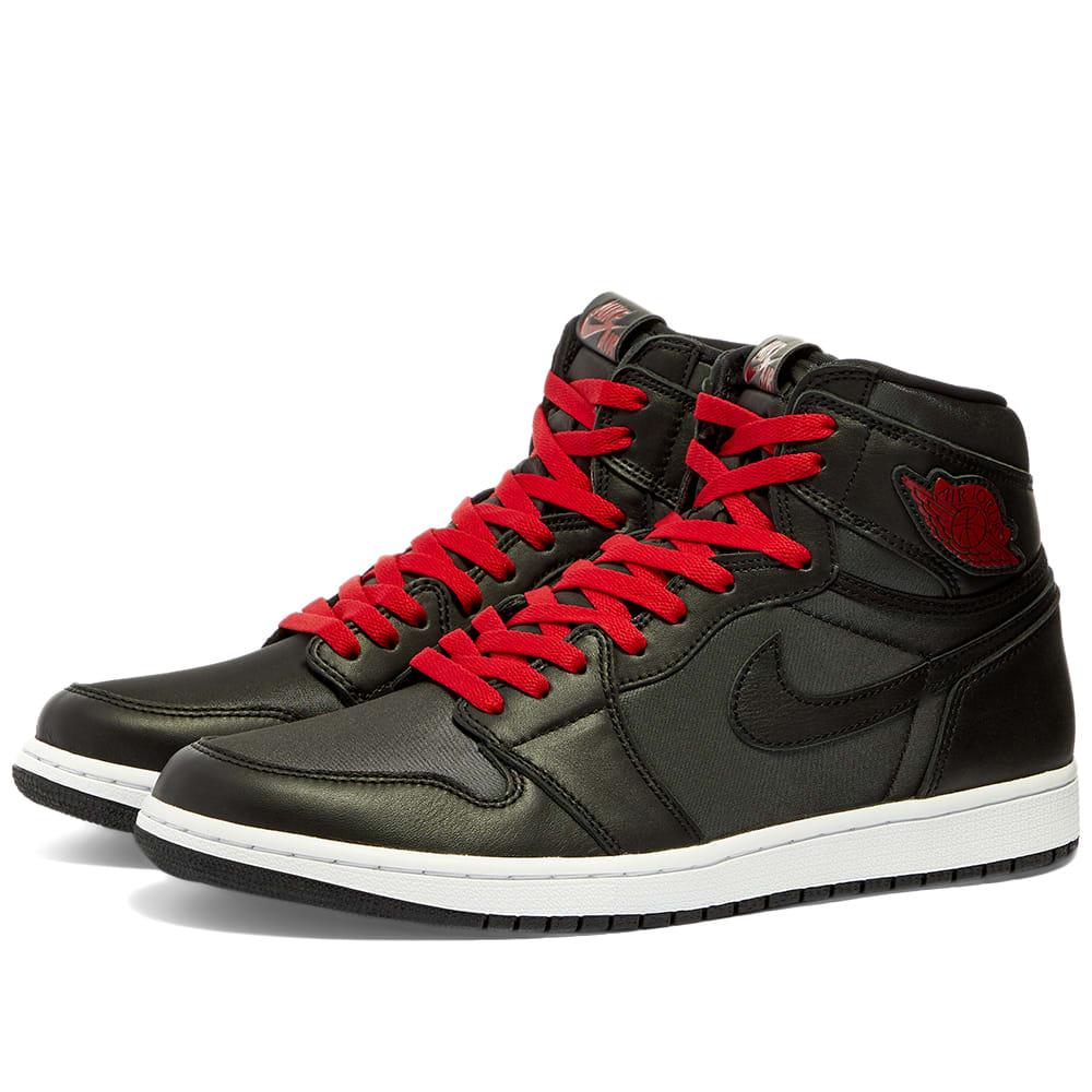 Air Jordan 1 Retro High Black, Gym Red