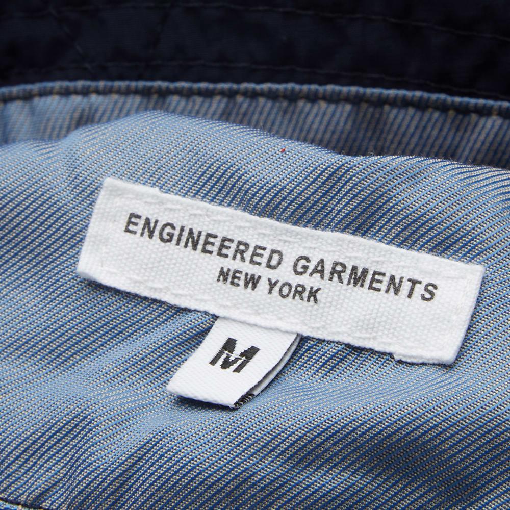 f671d53f8e160 Engineered Garments Bucket Hat Dark Navy Nyco Poplin