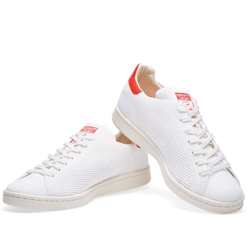 042d31dbd43 Adidas Stan Smith OG Primeknit Chalk White   Red