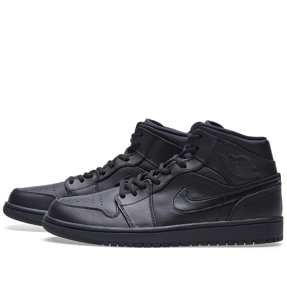 info for 1ea23 66638 Nike Air Jordan 1 Mid Black   White   END.