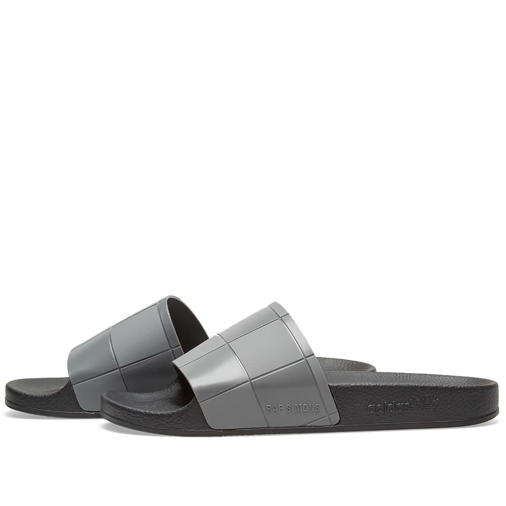 dd0d1cf2d5c5 Adidas x Raf Simons Adilette Checkerboard Black   Granite