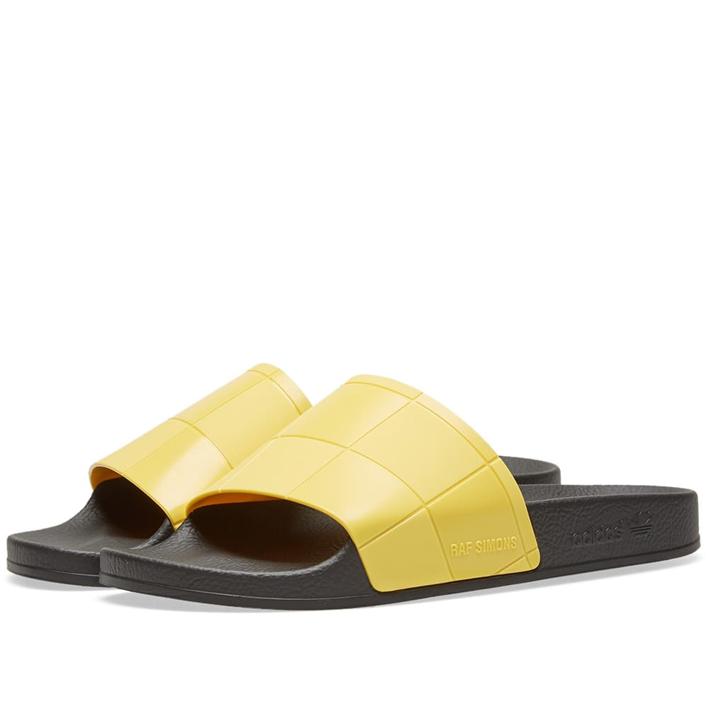 ADIDAS BY RAF SIMONS Raf Simons For Adidas Women'S Adilette Checkerboard Slide Sandals, Yellow