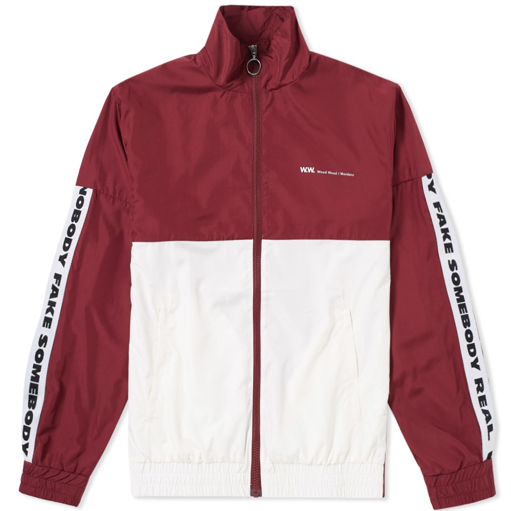 WOOD WOOD Homer Track Jacket With Taping - Red