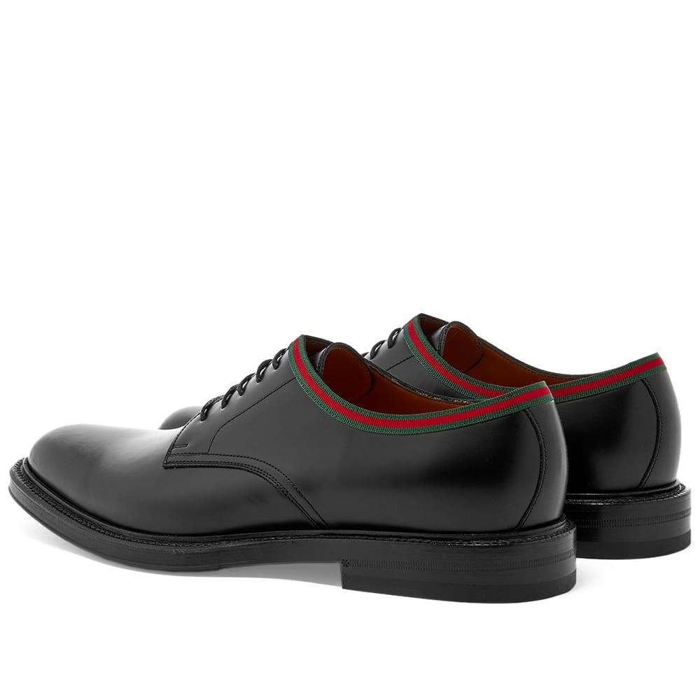 Gucci Beyond GRG Trim Derby Shoe Black