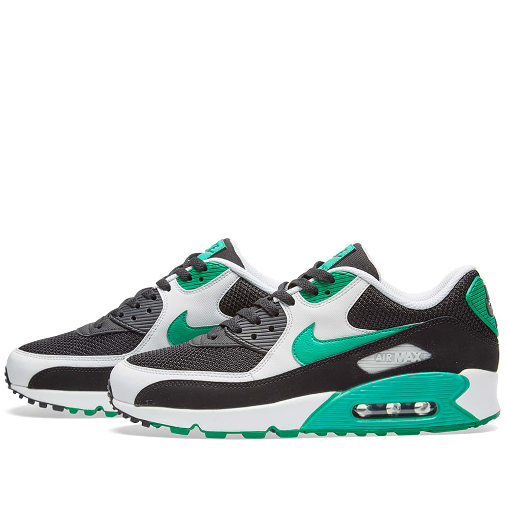 new arrival bcce8 f8c64 Nike Air Max 90 Essential Black, Stadium Green   White   END.