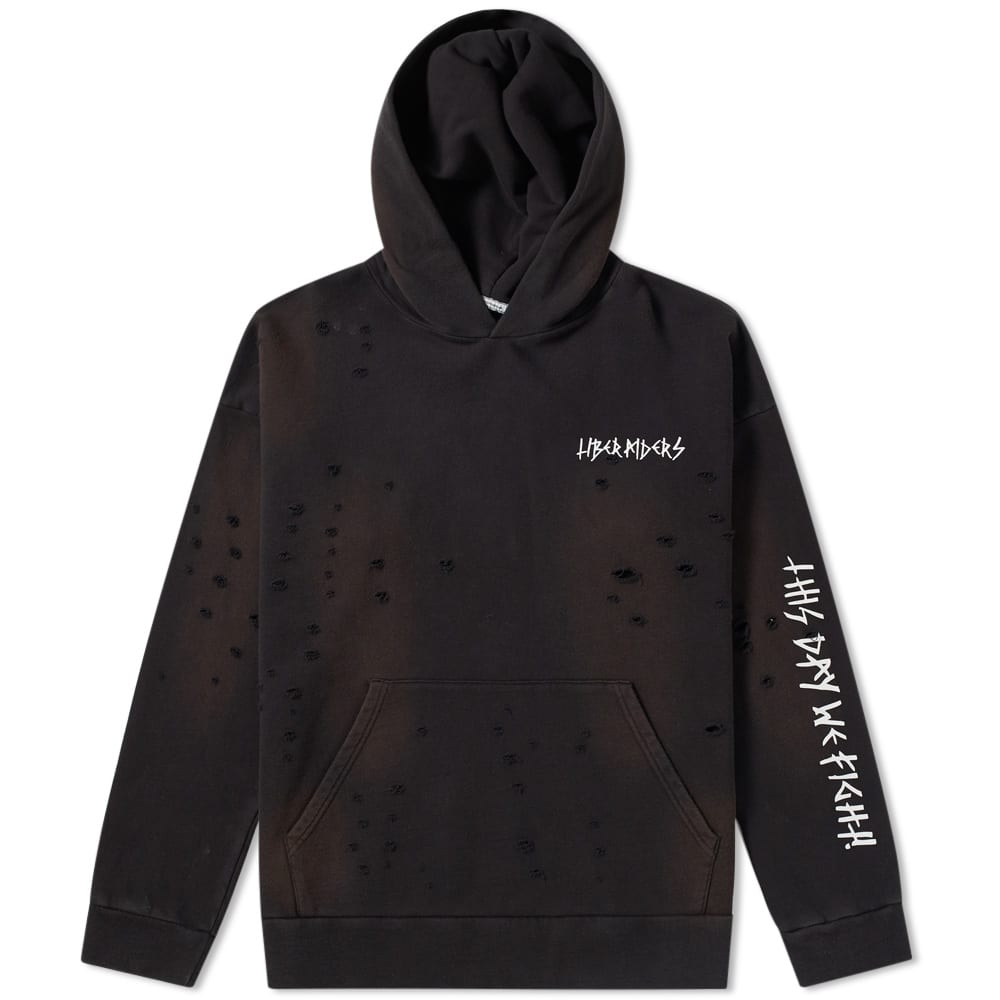 LIBERAIDERS DAMAGED PULLOVER HOODY