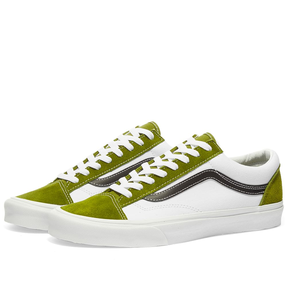 vans green and black
