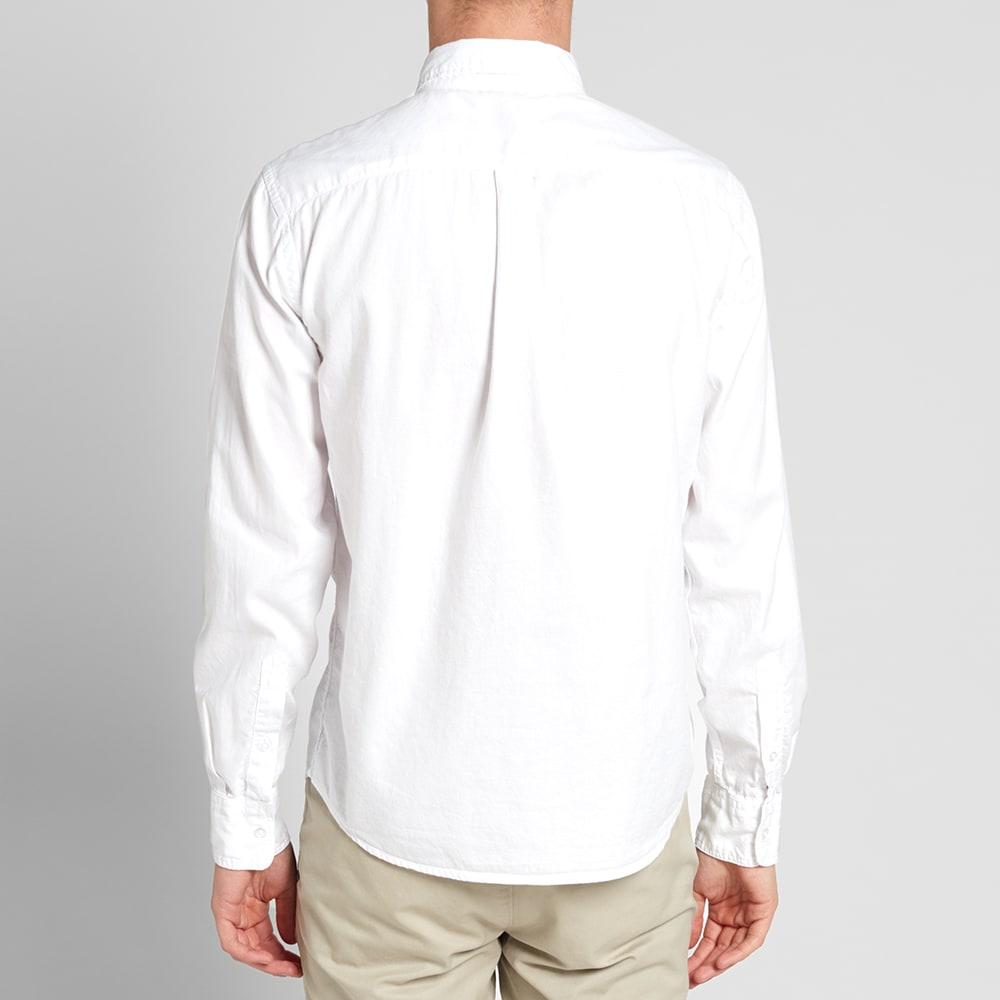 Save khaki button down oxford shirt white for Khaki button up shirt