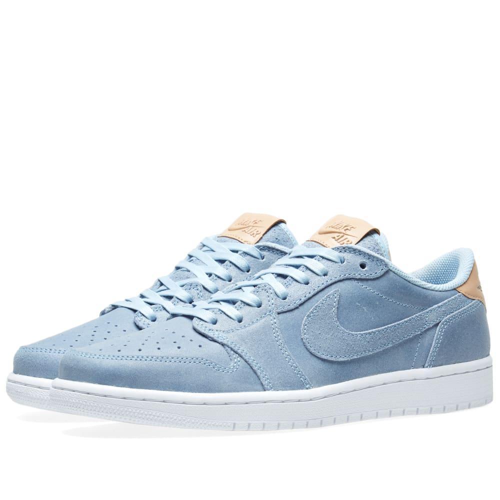 8614d7400d83 Nike Air Jordan 1 Retro Low OG Premium Ice Blue   Vachetta Tan