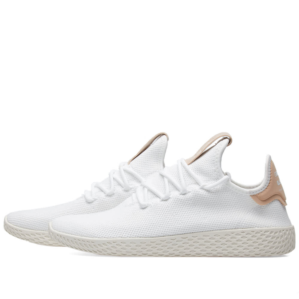 fc36418ff0443 Adidas x Pharrell Williams Tennis HU White   Chalk White