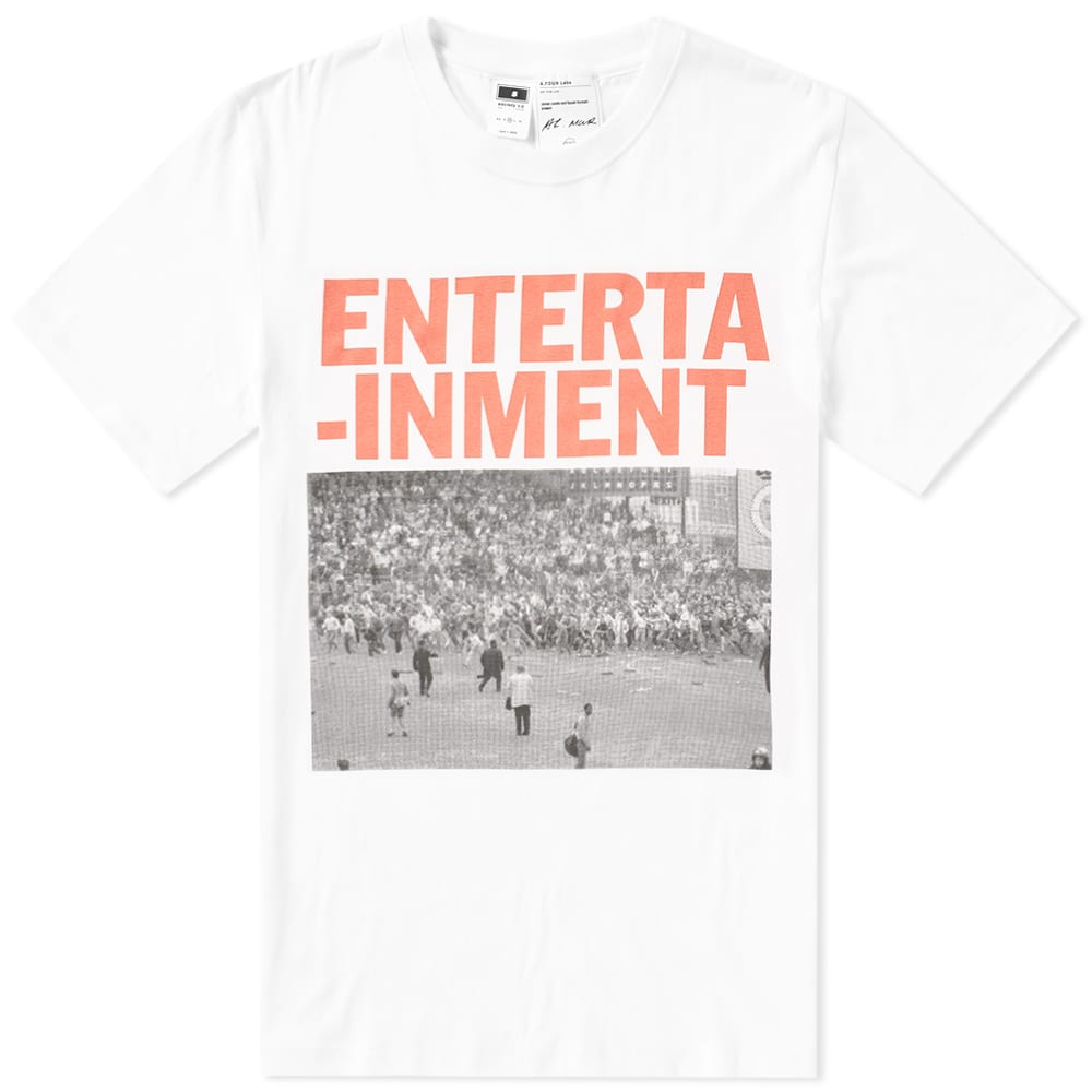 A.FOUR LABS A FOUR LABS ENTERTAINMENT 01 TEE