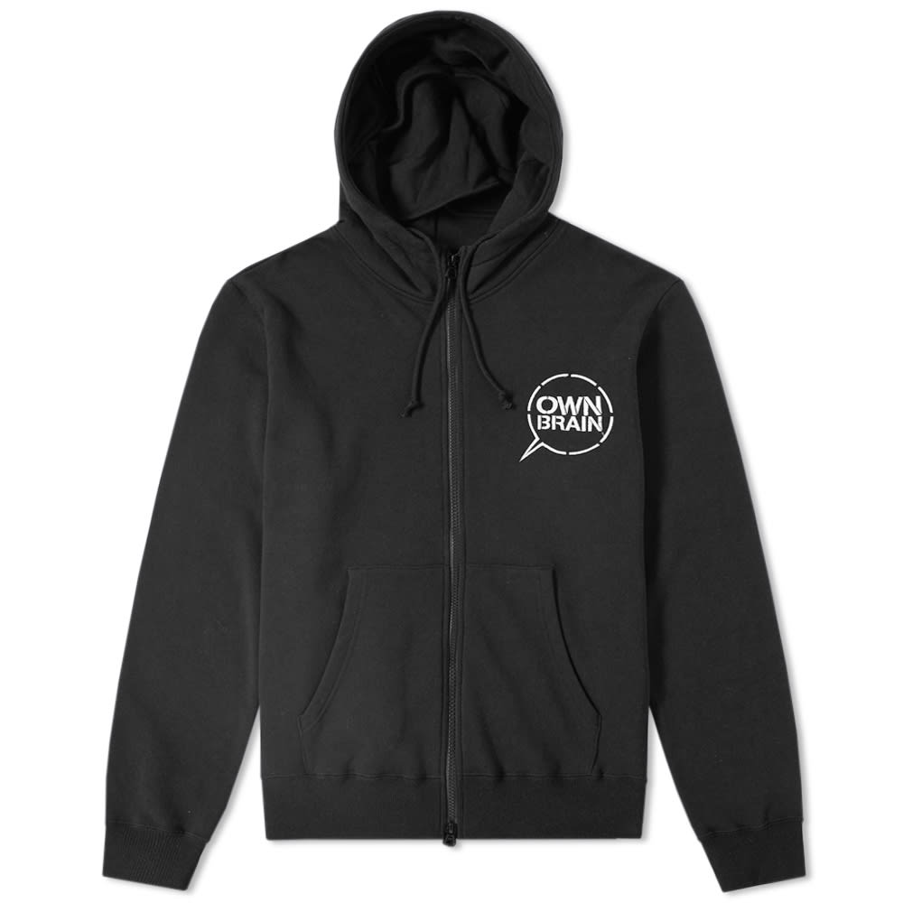 OWN BRAIN BY A.FOUR LABS ZIP HOODY