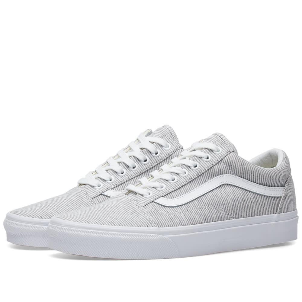 Vans Old Skool Jersey Grey \u0026 True White